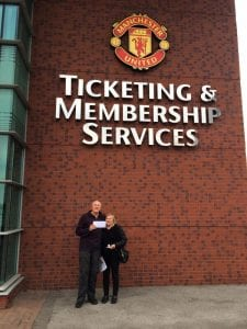 MUFC comp winners at Old Trafford Manchester
