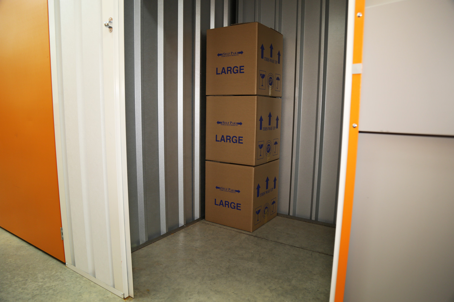 Inside a 25 sq ft storage room at The Store Room Leicester