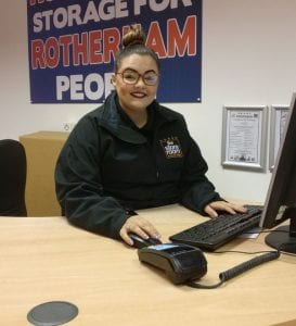 Georgia Moxon - assistant manager at The Store Room Rotherham self storage facility
