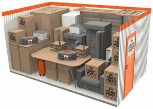 150 sq ft self storage room
