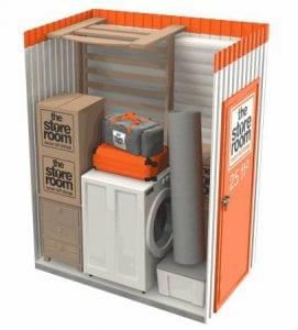25 sq ft self storage room