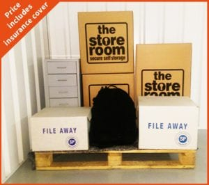 student storage pallet space at The Store Room