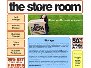 screenshot of new self storage website