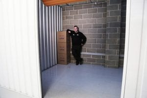 Inside a large self storage room at our Leicester site
