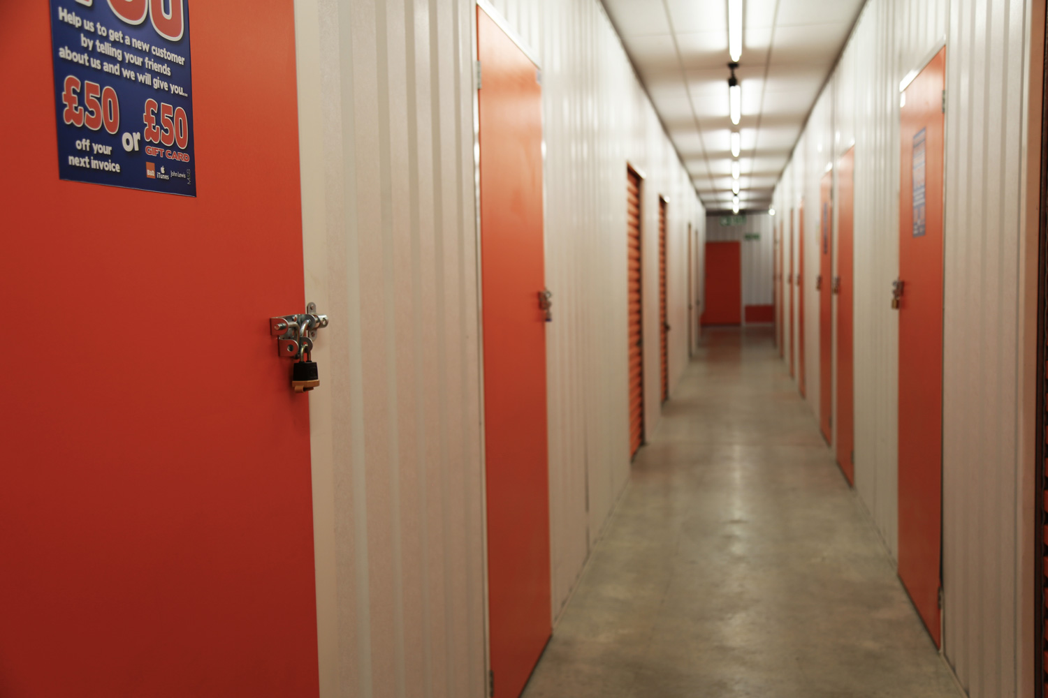 Storage corridor at The Store Room in Leicester