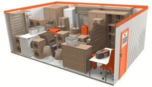 200 sq ft self storage room at The Store Room