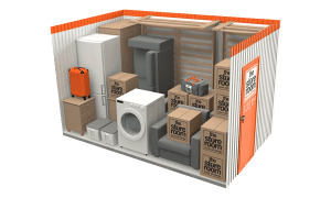100 sq ft self storage room at the store room