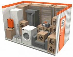 100 sq ft self storage room