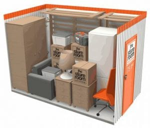 75 sq ft self storage room
