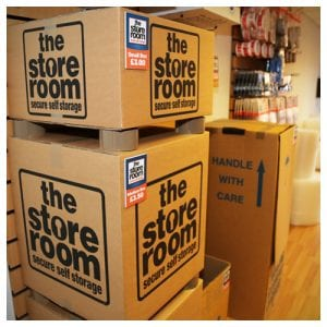 Self storage boxes for sale at The Store Room
