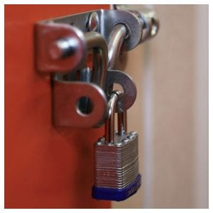 Storage padlock available at The Store Room