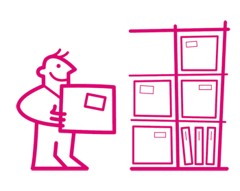storage by the box character