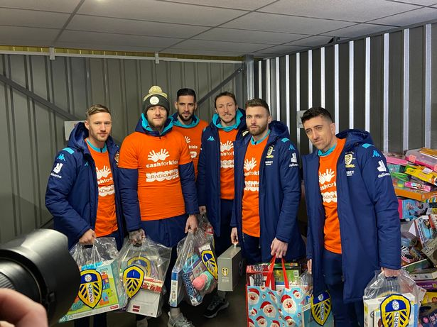 Leeds United players at The Store Room's Leeds storage site