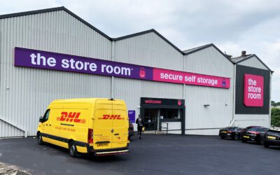 The Store Room with DHL van